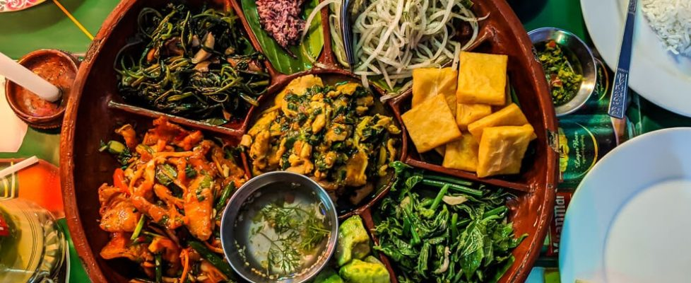 shan traditional meal burmese food