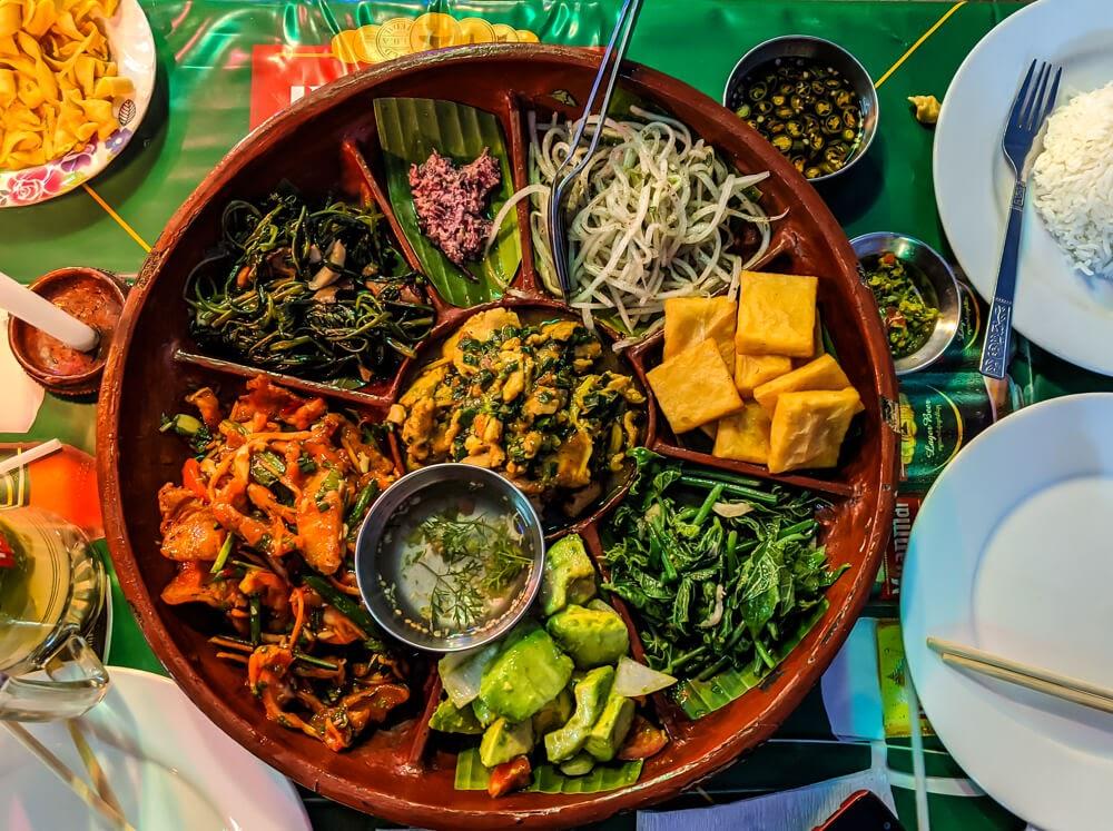 shan traditional meal burmese food